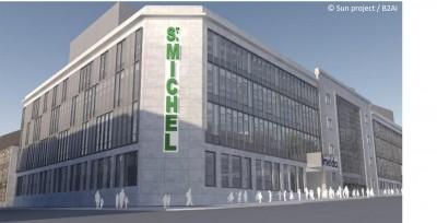 L'ancienne fabrique de tabac Saint-Michel à Bruxelles sera bientôt transformée en bâtiment scolaire.